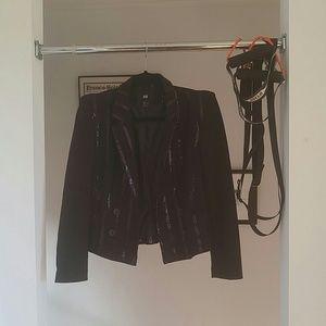 Black sequins blazer